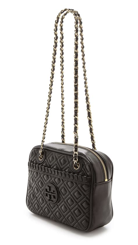 Burch Quilted Bag by Burch Marion Quilted Cross Bag Black In Black