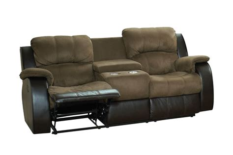 reclining loveseat with console microfiber lorenzo microfiber reclining loveseat with console at
