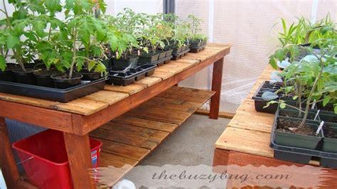 diy greenhouse benches diy greenhouse benches great idea garden time pinterest