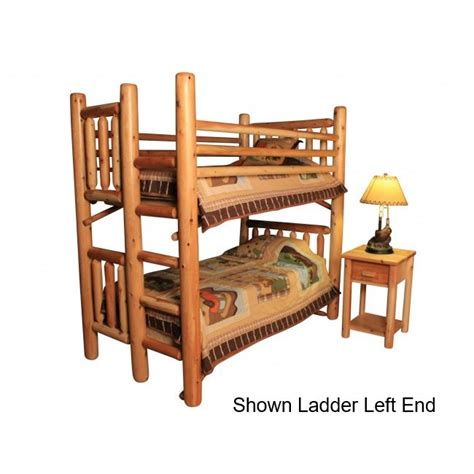 assembling log furniture northwoods twintwin log bunk bed twist of nature pine log bunk bed