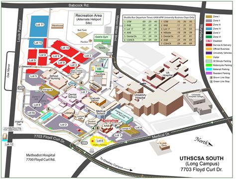 texas center parking map the university of texas health science center school of medicine