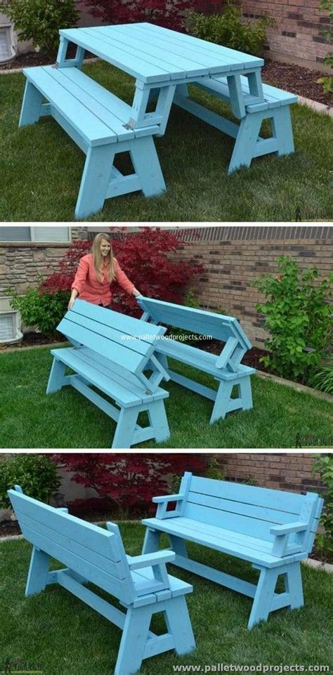 pallet picnic bench ideas for wooden pallet recycling pallet wood projects