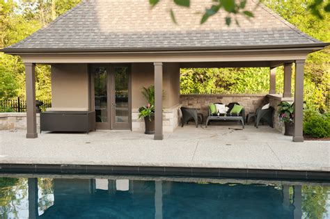 backyard pool houses and cabanas pool sheds and cabanas