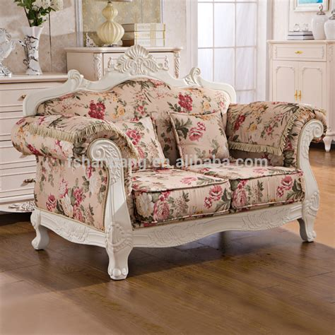 floral sofa sets india royal provincial fabric upholstered wooden living