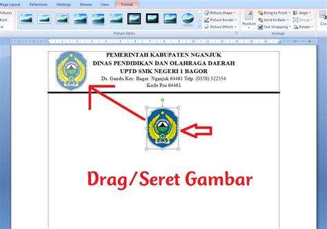 membuat kop surat ms word 2010 cara membuat logo di sing kop surat ms word 2007 2010