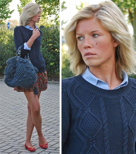 Sweater Knit Satchel By Gerard Darel by Valerie Brems Mango Knit Gerard Darel Bag