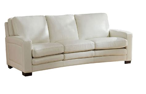 Sofa White Leather Joanna Top Grain Ivory White Leather Sofa