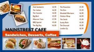 restaurant menu board templates digital menu boards for restaurants cafes bars and fast food