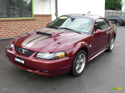 2004 40th anniversary crimson metallic ford mustang gt