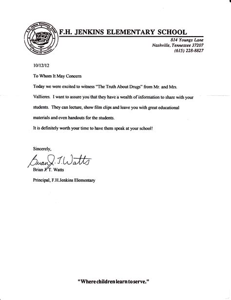 Reference Letter For Elementary Student recommendations archives page 2 of 2 free tennessee
