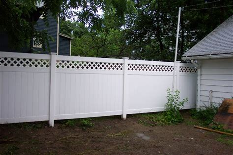 white backyard fence the best white pvc fence bitdigest design