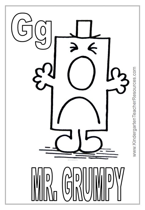 Letter Mister free mr bump coloring pages