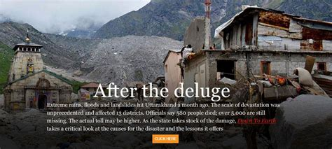 Essay On Uttarakhand A Made Disaster by Uttarakhand Floods Is The Disaster Human Induced
