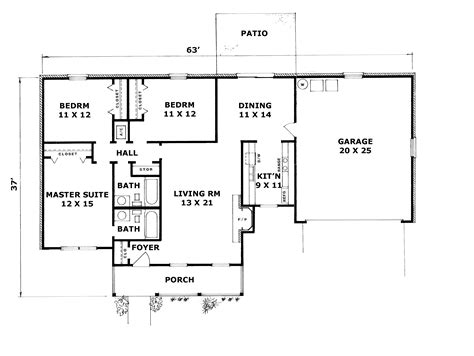 how to design a house plan brickingham country ranch home plan 069d 0032 house plans and more