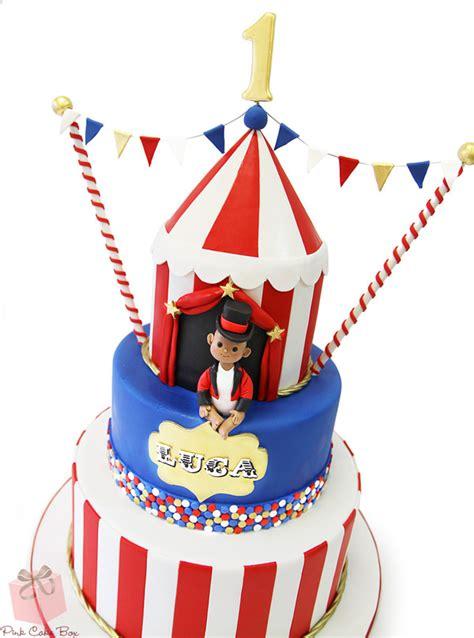 St  Ee  Birthday Ee   Circus Themed Cake Celeb Ion Cakes