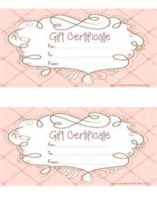 diy gift voucher template free printable pink gift certificate with a brown drawing