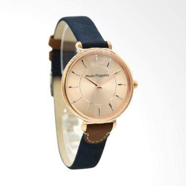 jual hush puppies hp 5014l 2505 analog jam tangan wanita biru harga kualitas