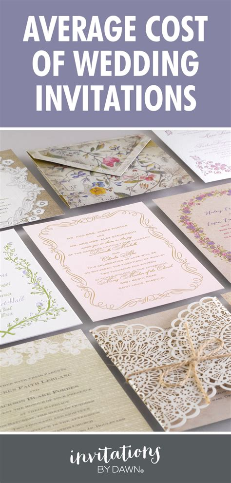 how much do you charge for wedding invitations average cost of wedding invitations