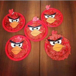 Angry Bird Paper Plate Craft - angry birds craft ideas