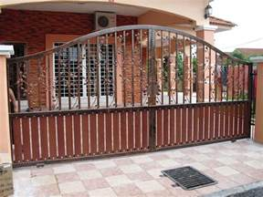 metal entrance gate ideas for contemporary home with