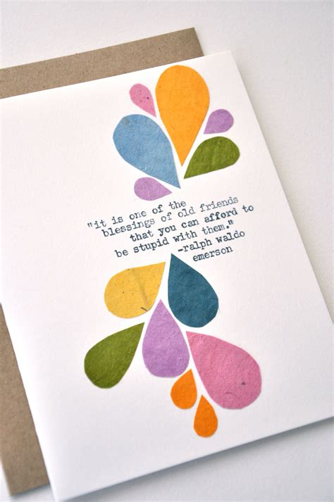 friendship card handmade greeting card blessing of by