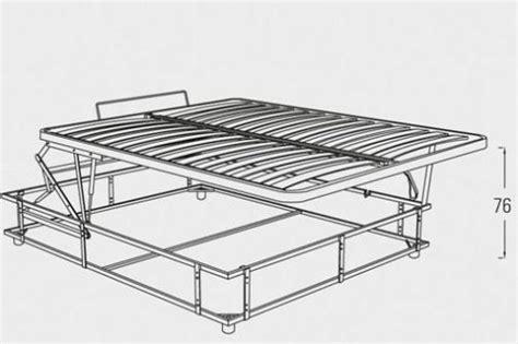 posizioni letto meccanismo contenitore tutte le misure di letto