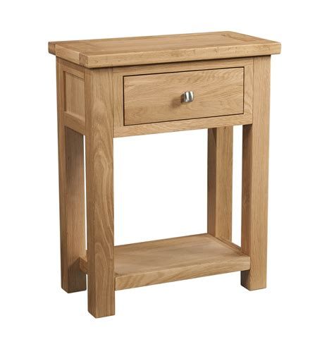 dorset 1 drawer oak console table with shelfdorset 1