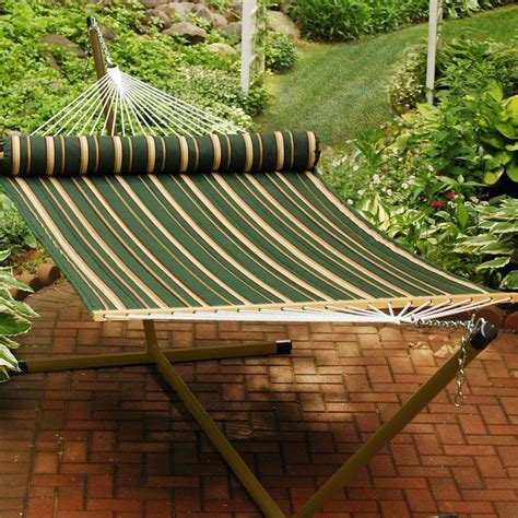 reversible quilted hammock with matching pillow 2930dl
