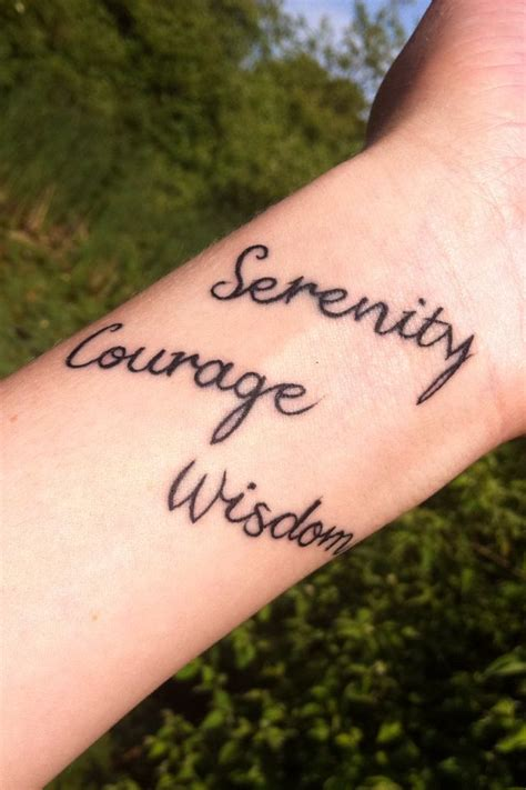 serenity prayer tattoo on wrist 1000 ideas about serenity on firefly