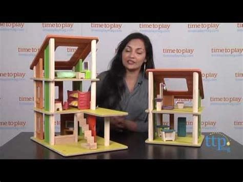 plan toy chalet doll house with furniture chalet dollhouse with furniture from plan toys youtube