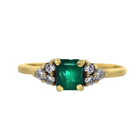 14k yellow gold emerald and cocktail ring boca raton
