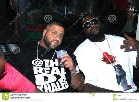 dj khaled que hace dj khaled e rick ross foto editorial imagem 17095991