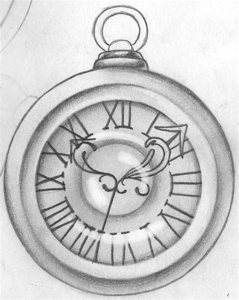 old clock tattoo designs pocket drawing at getdrawings free for