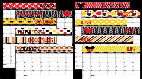 printable calendar 2016 disney 2016 printable mickey mouse disney themed calendar instant