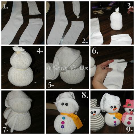 sock snowman how to make them the sock snowman tutorial 4 sons r us