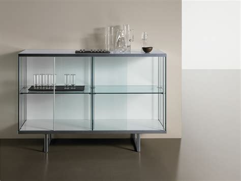 Sideboard With Glass Doors Glass Sideboard With Sliding Doors Broadway High By T D Tonelli Design Design Bartoli Design