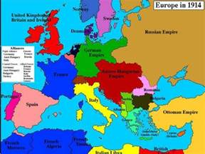 Wwi Map Of Europe by Map Of Europe In 1914 Before The Great War World War I