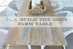 how to build the easiest farm table city farmhouse