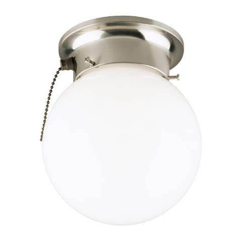 Westinghouse 6720800 One Light Flush Mount Interior Pull Chain Light Fixtures