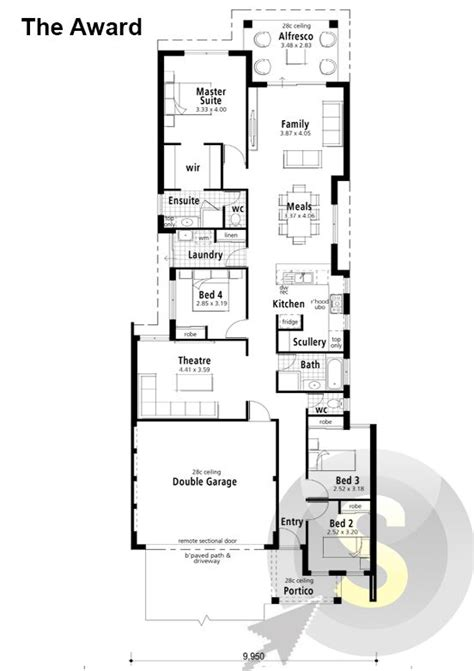 the award floorplan 10m frontage 4x2 alfresco