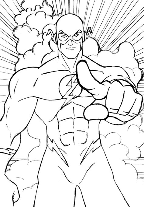 flash coloring pages free printable the flash coloring pages barriee
