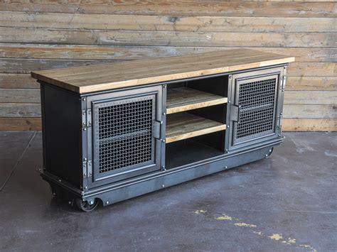 Boxcar Ellis Console   Vintage Industrial Furniture
