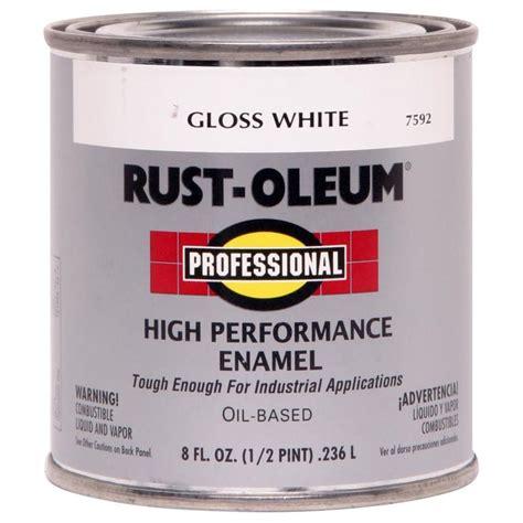 gloss paint shop rust oleum professional white gloss enamel interior