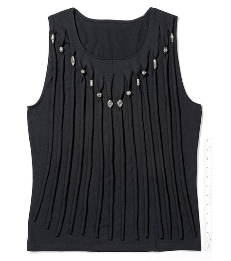 Fringed Tank Top fringed tank top joann jo