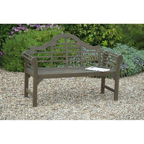 grey garden bench greenhurst 2 seater bench grey on sale fast delivery