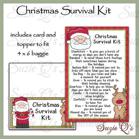 christmas grinch survival kit survival kit includes topper and card digital