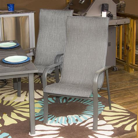 homecrest kashton sling patio dining chair dusk