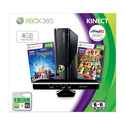 xbox 360 console with kinect new xbox 360 s kinect console 4gb bundle w