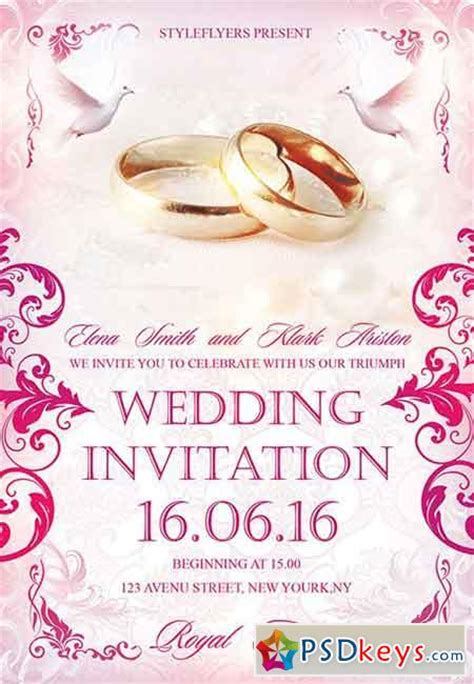 psd invitation templates wedding invitation psd flyer template cover