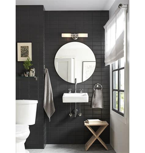 metal framed bathroom mirrors graydon double wall sconce polished nickel wall sconces